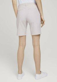 TOM TAILOR - Shorts - beige thin stripe - 2