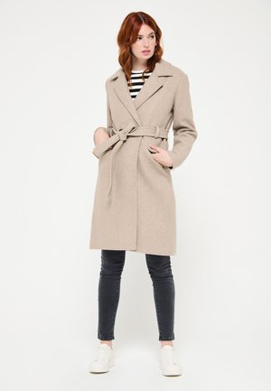 WITH BELT - Trench - beige