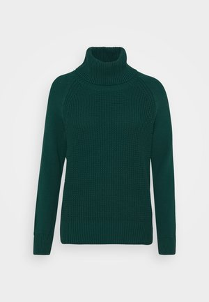 COWL NECK - Strikpullover /Striktrøjer - dark teal green