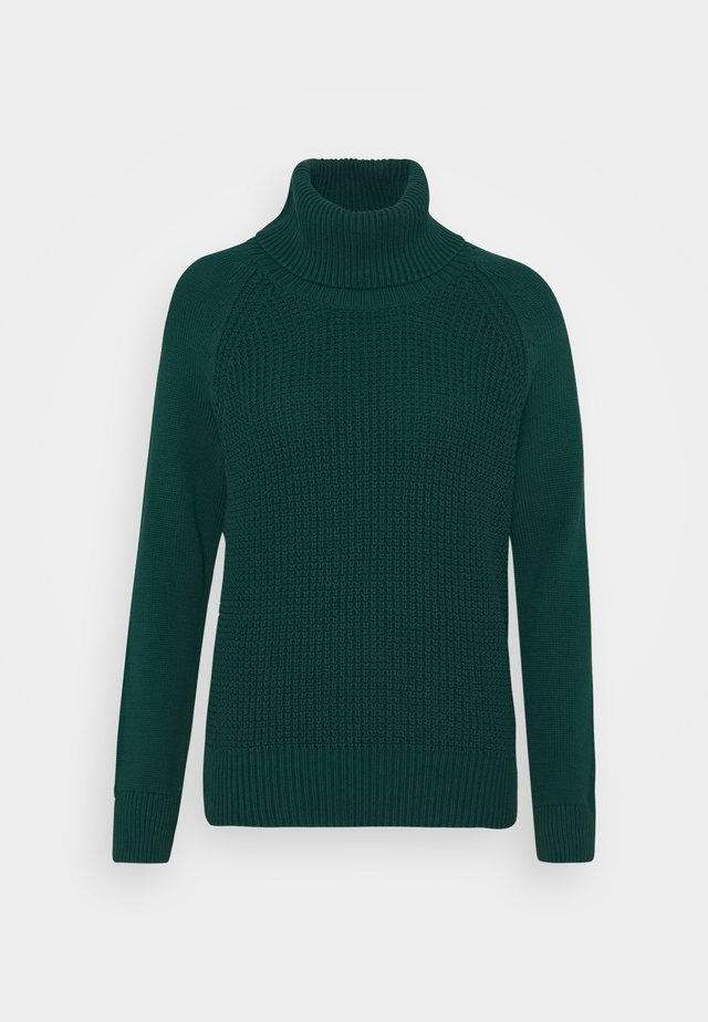 COWL NECK - Jumper - dark teal green