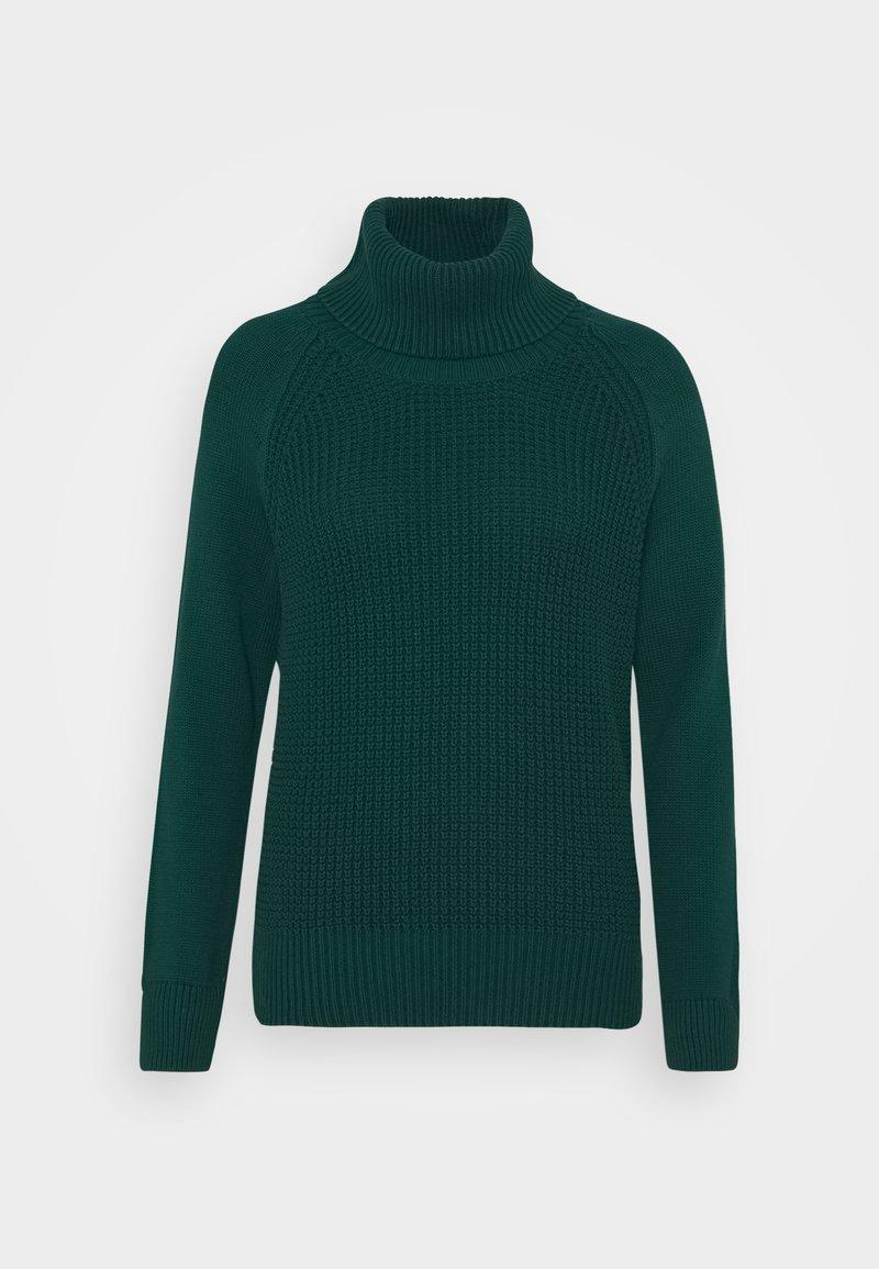 edc by Esprit - COWL NECK - Jumper - dark teal green