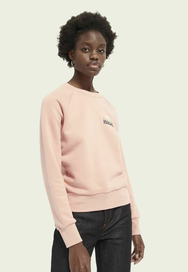 Scotch & Soda - WITH VARIOUS ARTWORKS - Sweatshirt - pink smoothie