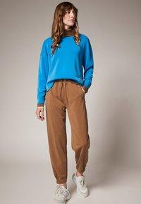 comma casual identity - REGULAR STRUKTUR - Tracksuit bottoms - mud brown - 1