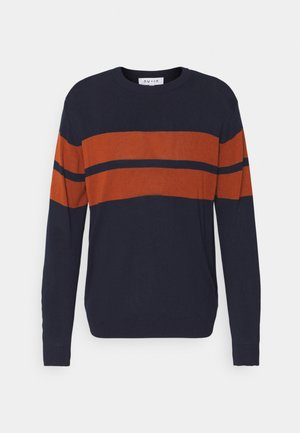 CREW NECK STRIPE - Neule - blue