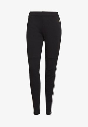 ADIDAS SPORTSWEAR 3-STRIPES SKINNY PANTS - Tracksuit bottoms - black/white
