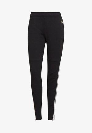 ADIDAS SPORTSWEAR 3-STRIPES SKINNY PANTS - Pantalones deportivos - black/white