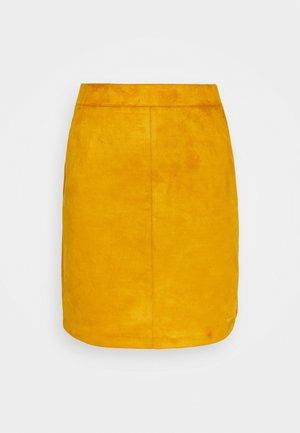 VMDONNA DINA SHORT SKIRT - Mini skirt - buckthorn brown