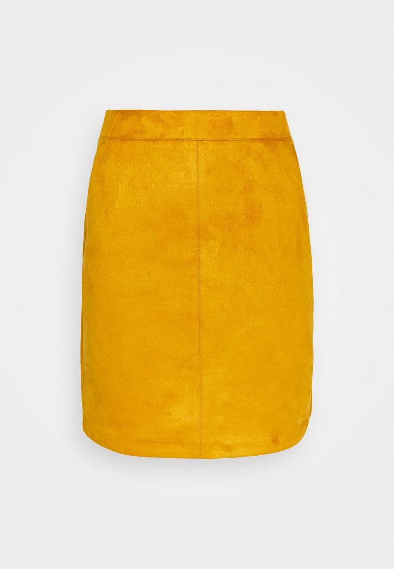 Vero Moda Tall - VMDONNA DINA SHORT SKIRT - Mini skirt - buckthorn brown