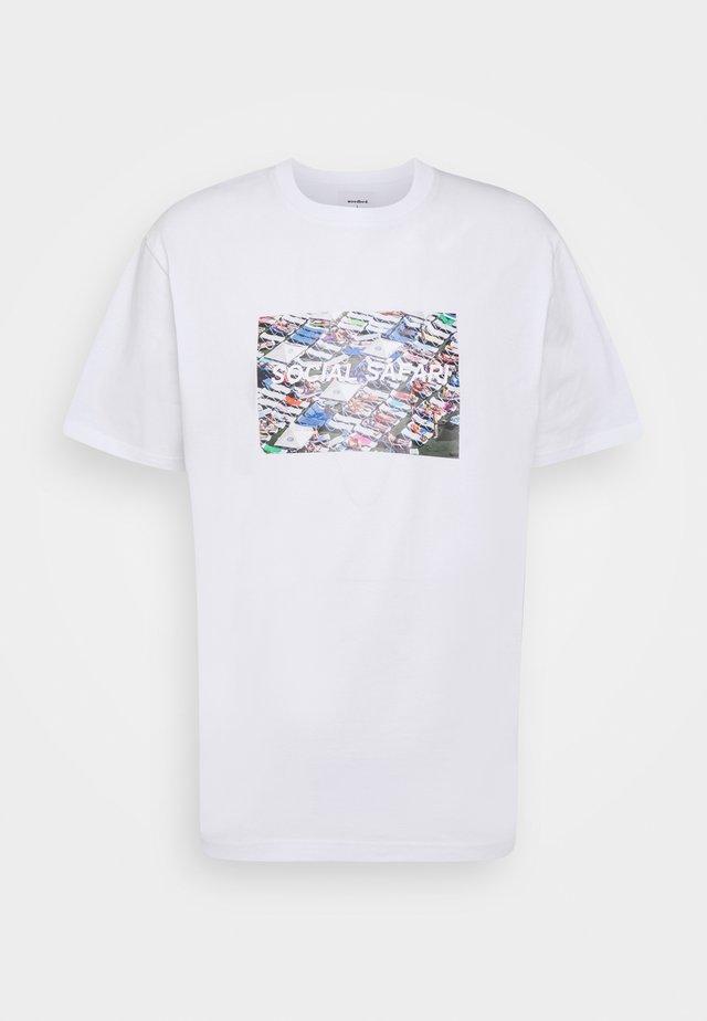 KLIX BED TEE - T-shirt print - white