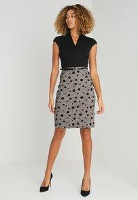 Anna Field - Shift dress - black/rose - 1