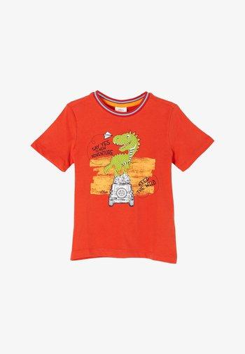DINO MOTIV - Print T-shirt - dark orange