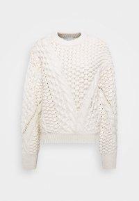 CREW NECK CABLE - Jumper - white