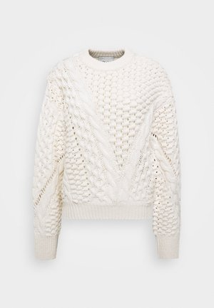 CREW NECK CABLE - Svetr - white