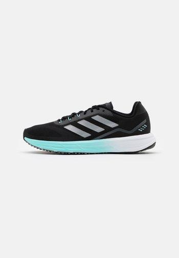 SL 20.2  - Obuwie do biegania treningowe - core black/silver metallic/clear aqua