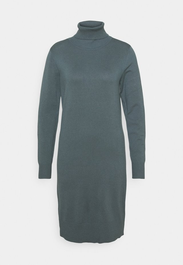 MILASZ ROLLNECK DRESS - Pletené šaty - dark slate