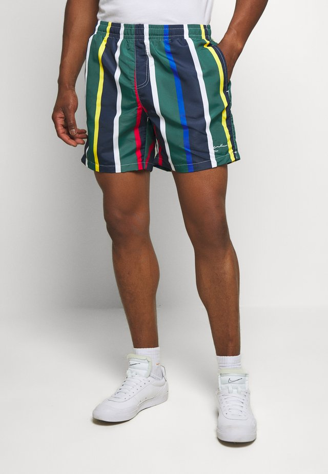 SIGNATURE STRIPE - Shorts - navy