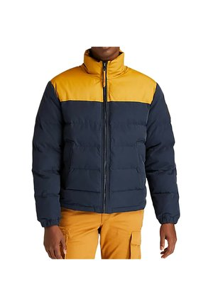 Down jacket - marron/ bleu foncé
