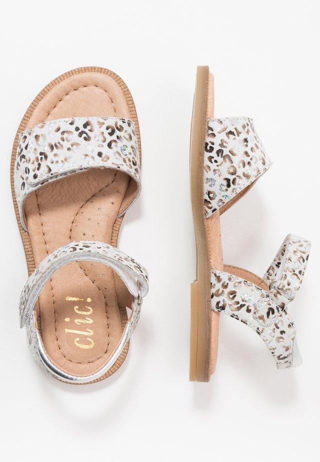 Sandaler - blanco/lame plata