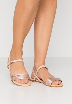 LEATHER SANDALS - Sandály - rosegold/nude