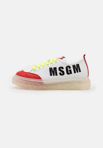 UNISEX - Trainers - white/red