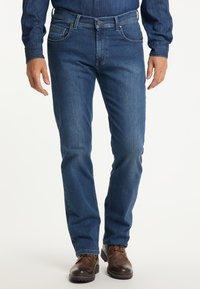Pioneer Authentic Jeans - RANDO MEGAFLEX - Straight leg jeans - stone used - 0