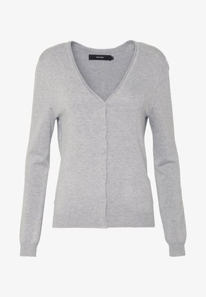 VMNELLIE GLORY LS V-NECK CARDIGAN N - Cardigan - light grey melange