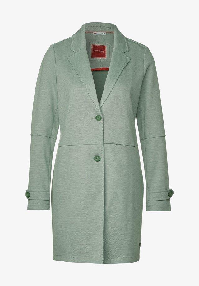LANGER PIQUÉ - Classic coat - grün