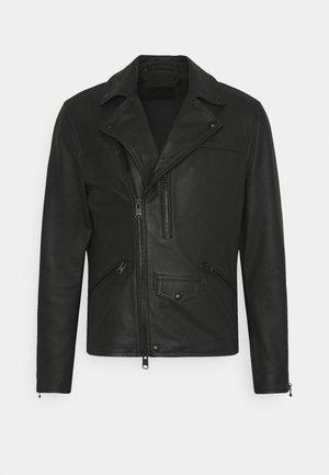 ROSO BIKER - Leather jacket - black