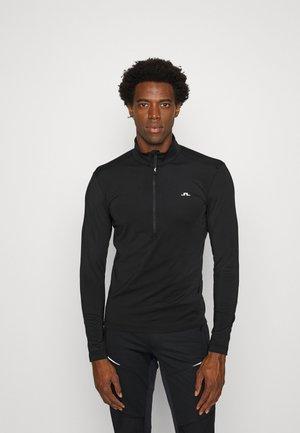 LUKE HALF ZIP MID LAYER - T-shirt à manches longues - black