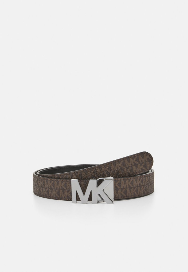 Michael Kors - BUCKLE BELT - Gürtel - brown/black