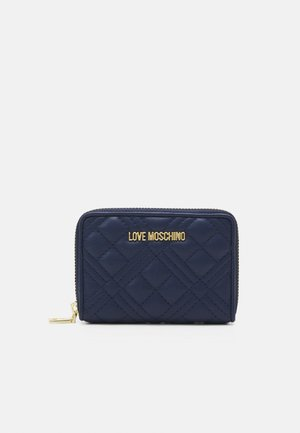 QUILTED SMALL ZIP AROUND - Wallet - navy