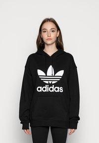 adidas Originals - HOODIE - Hoodie - black/white - 0