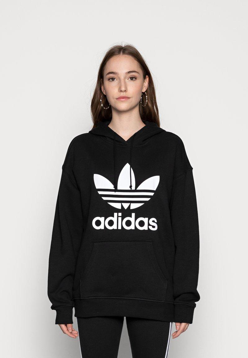 adidas Originals - HOODIE - Hoodie - black/white