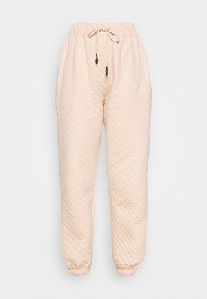 QUILTED JOGGERS - Tracksuit bottoms - stone
