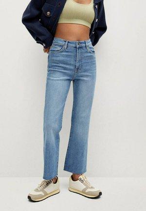 SIENNA - Bootcut jeans - middenblauw