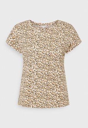 ROLL UP - Print T-shirt - beige/camel