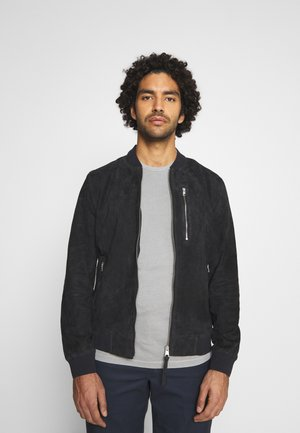 KEMBLE BOMBER - Leather jacket - ink blue