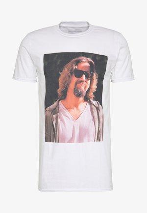 BIG LEBOWSKI DUDE TEE - Print T-shirt - white