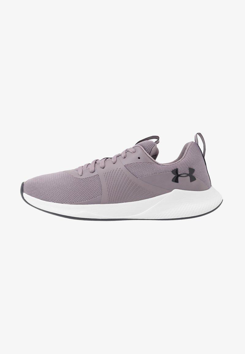 Under Armour - CHARGED AURORA - Sportschoenen - slate purple/white/blackout purple