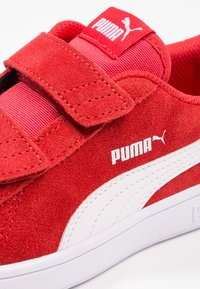Puma - SMASH UNISEX - Sneaker low - high risk red/white - 5