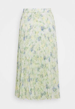 PLEATED MIDI - A-line skirt - white