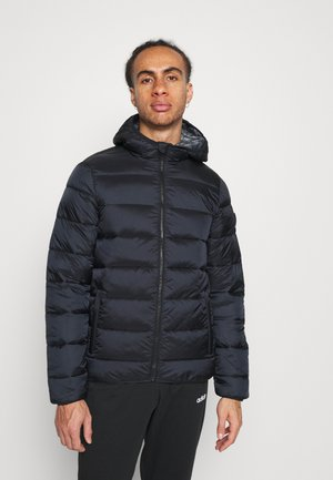 HOODED JACKET - Winterjacke - black