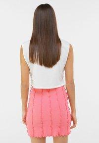 Bershka - A-line skirt - pink - 2