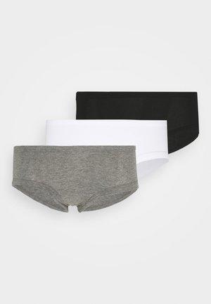 BINDING BOYBRIEF 3 PACK - Boxerky - true black/white/dark heather gray
