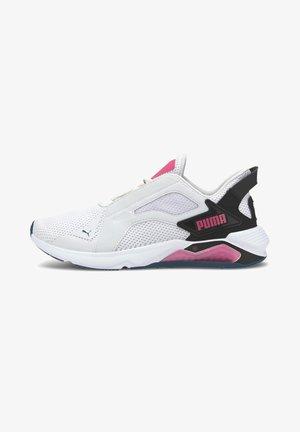 Sneakers laag - white-black-pink