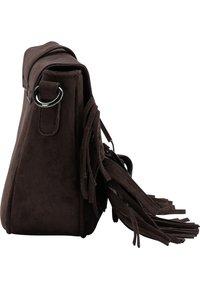 IZIA - Across body bag - dunkelbraun - 3
