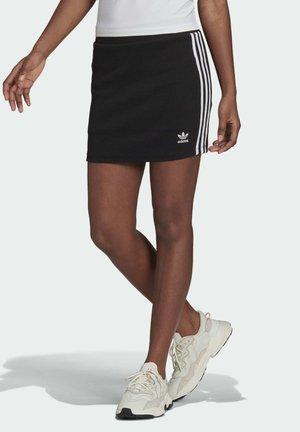 THREE STRIPES SKIRT - Mini skirt - black