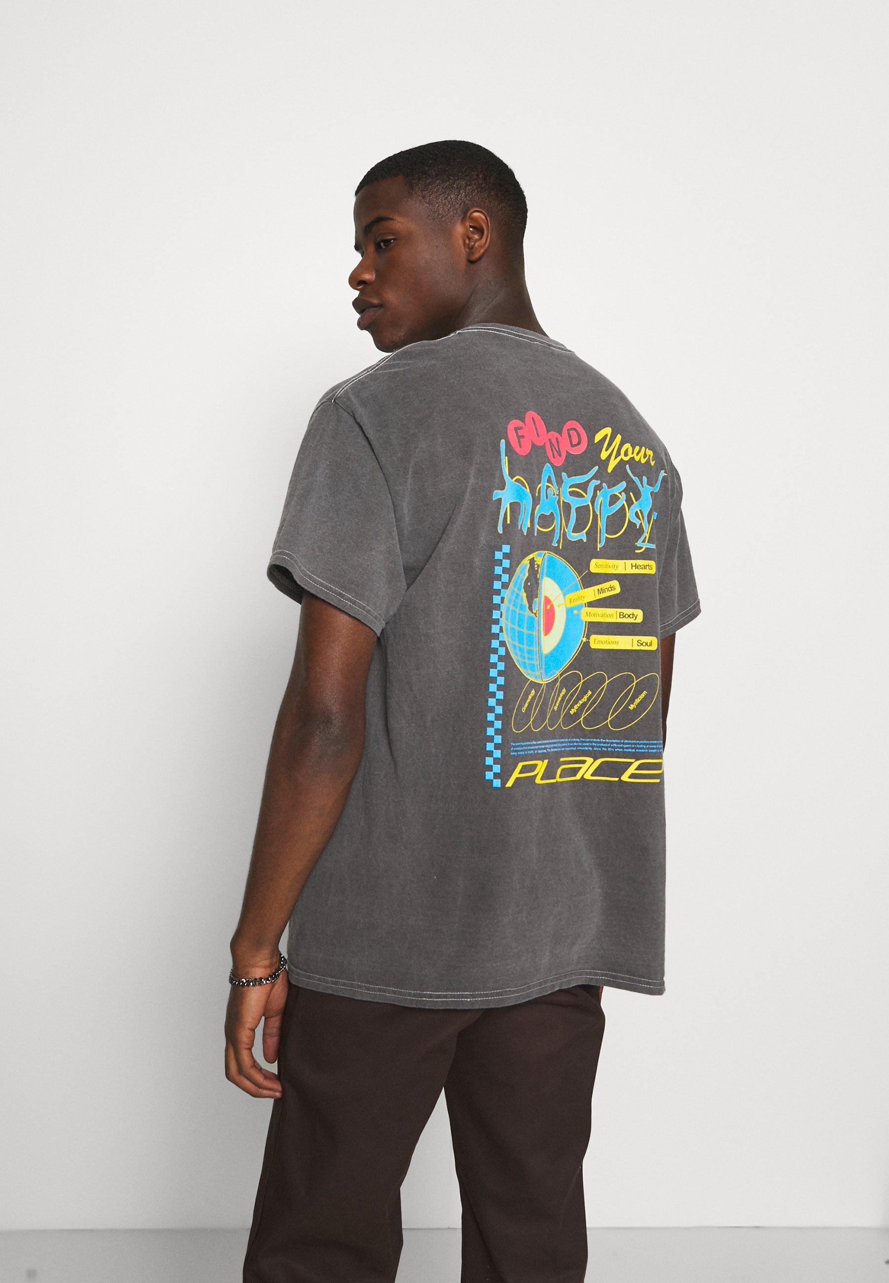 Men HAPPY PLACE TEE UNISEX - Print T-shirt