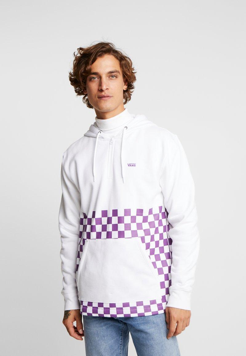 Vans - VERSA HOODIE - Bluza z kapturem - white/dewberry