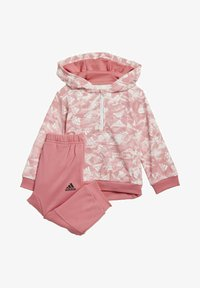 adidas Performance - BADGE OF SPORT ALLOVER PRINT JOGGER SET - Trainingspak - pink - 0